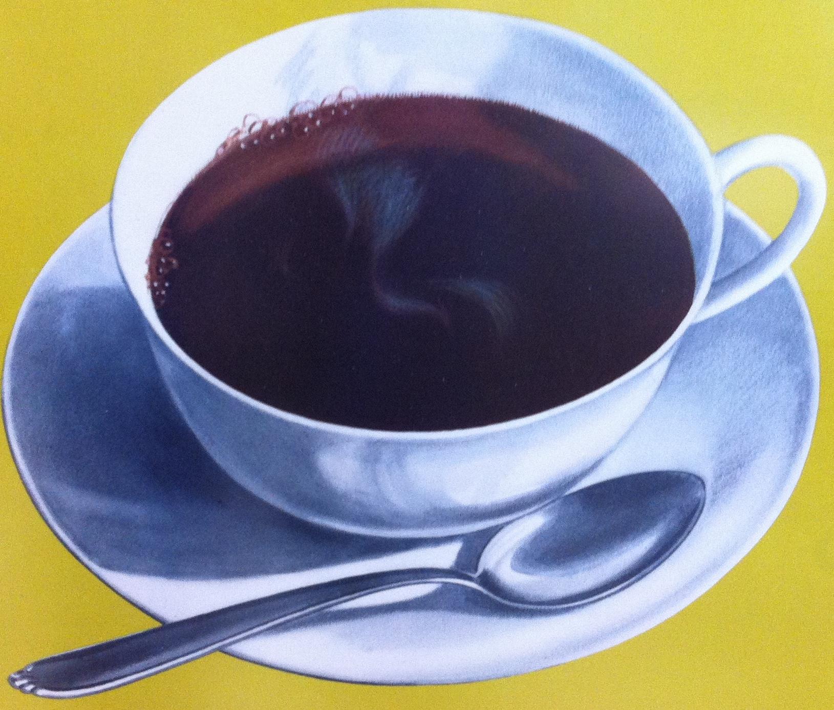 Zur Kaffe Tasse Vintage Coffee Poster Modernism