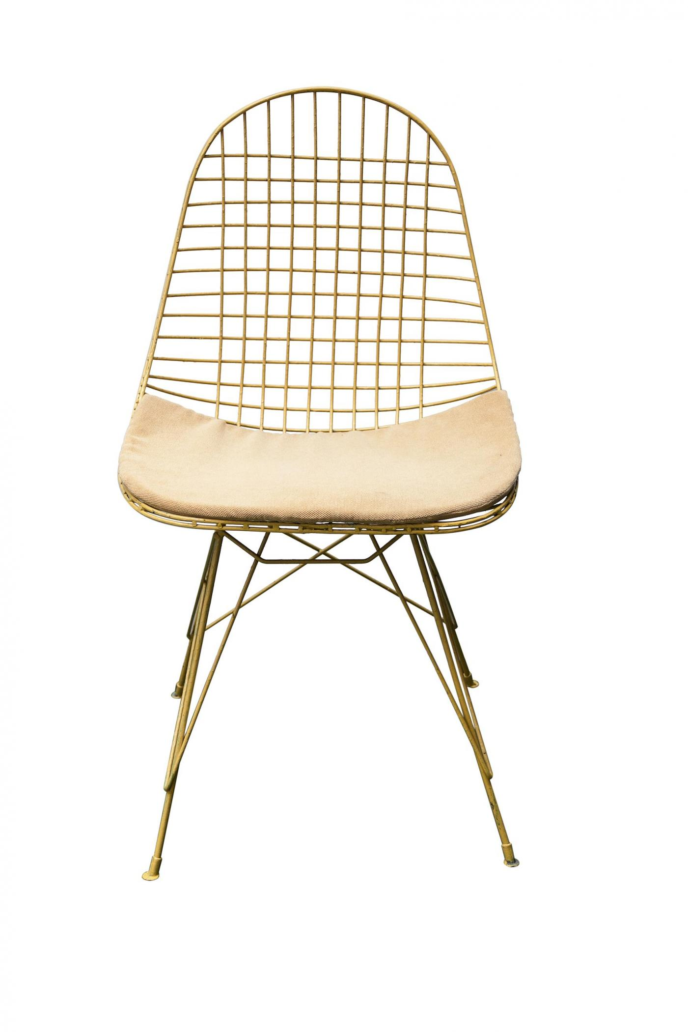 Two Wire Back Garden Chairs In The Style Of Harry Bertoia