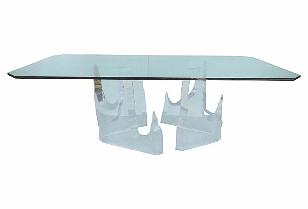 Charmant Lucite Iceberg Dining Table By Lion In Frost