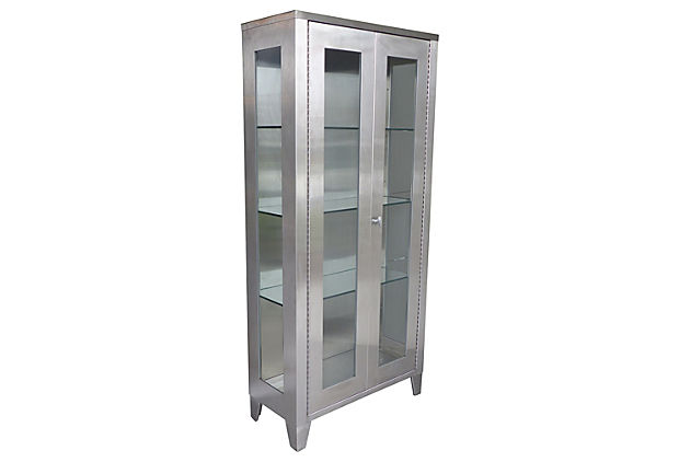 Stainless Steel Industrial Display Cabinet Modernism