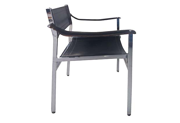 mid century modern italian chrome leather chairs modernism