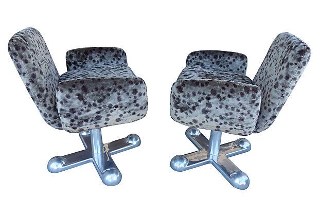 Planula Di Agliana Italian Mid Century Modern Swivel Chairs Modernism
