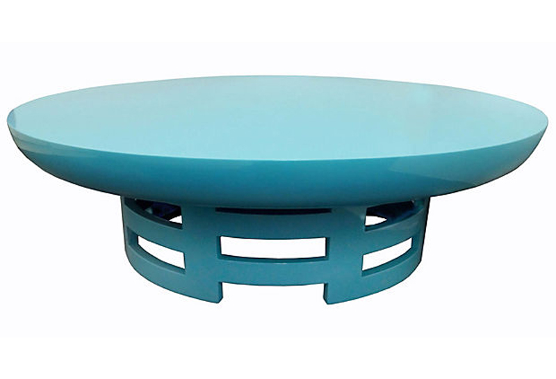40u0027s James Mont For Henredon Lacquered Coffee Table