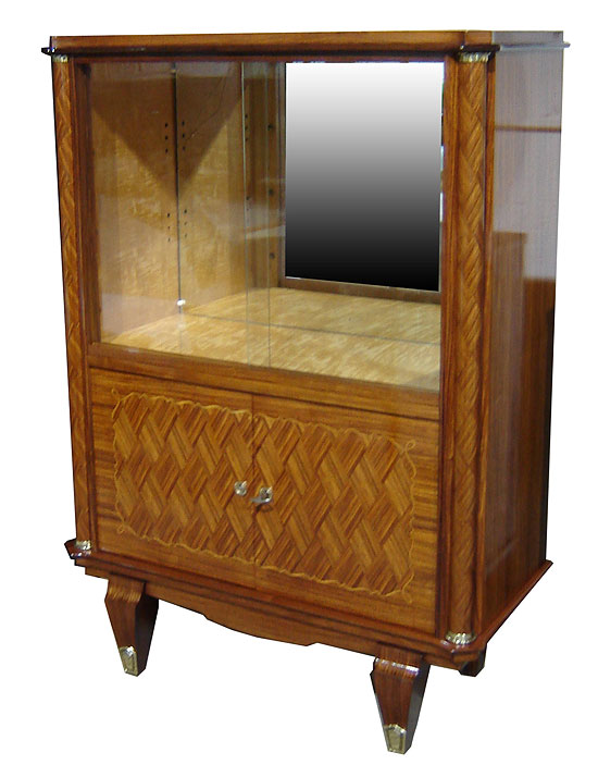Jules leleu french art deco marquetry vitrine modernism for Decoration vitrine