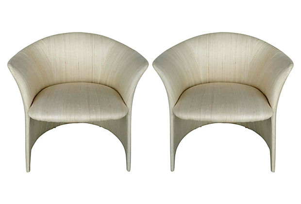 Vladimir Kagan Chairs For Preview Furniture In Silk
