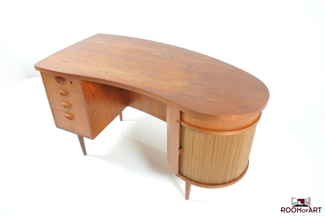 desk kidney top with inset mahogany beautiful shaped desks office leather inlays oval writing