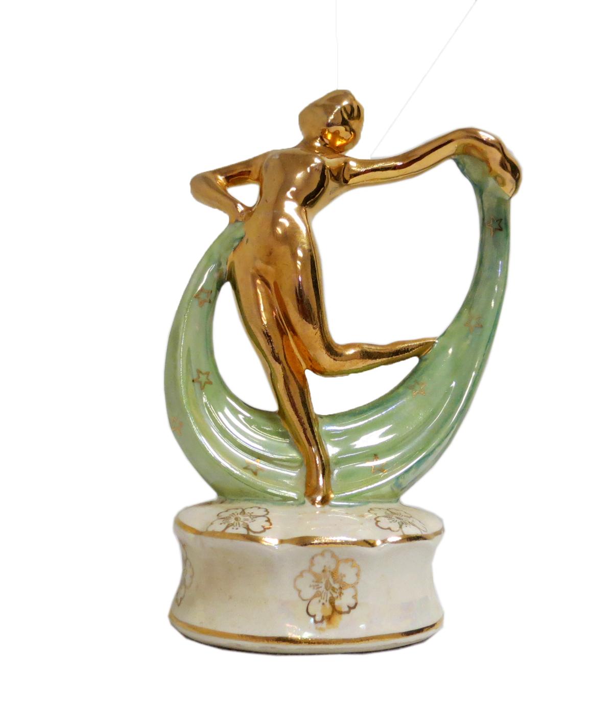 American Art Deco Keystone China Isidora Duncan Dancer