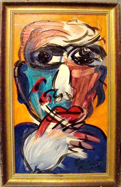 Peter Robert Keil Modern Abstract Painting With A Smoker
