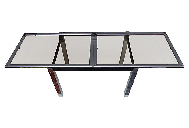 Mid century modern extendable la metal arredo paterno table