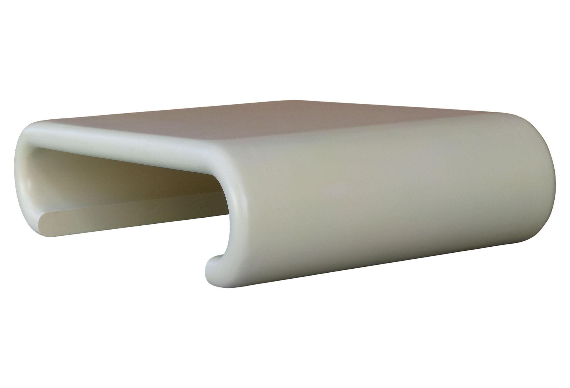 1970 39 S Karl Springer Style Wood Waterfall Coffee Table Modernism