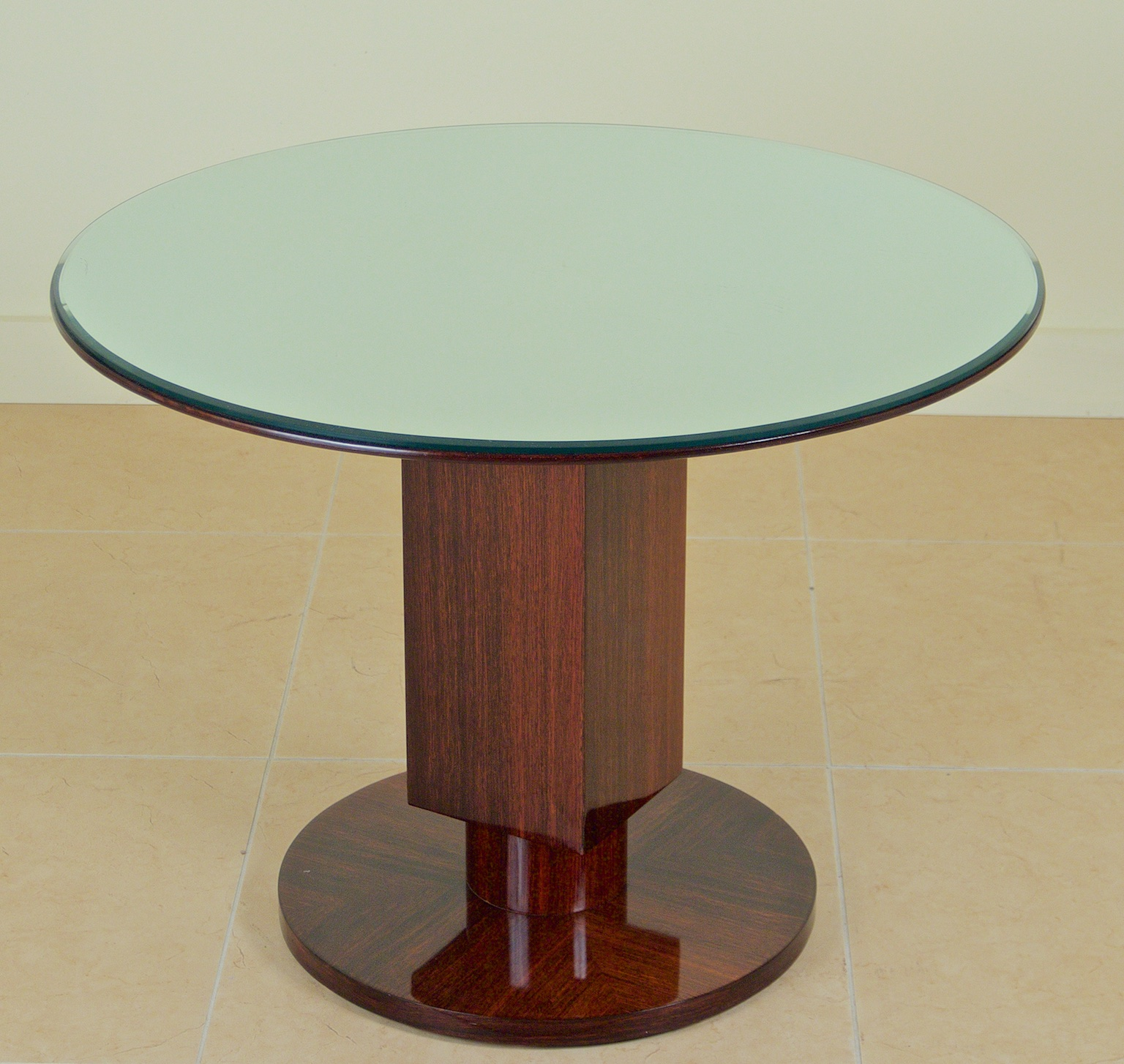 Jules Leleu Modernist Table With Mirror Top