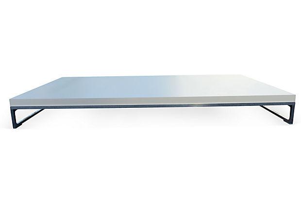 B b italia antonio citterio solo low profile coffee table for Low profile white coffee table