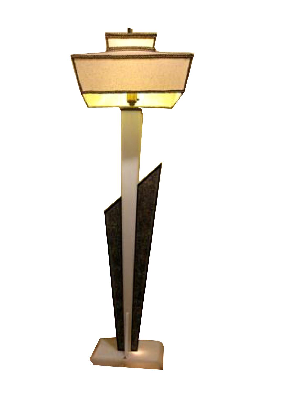 mid century modern mcm moss lucite floor lamp modernism. Black Bedroom Furniture Sets. Home Design Ideas