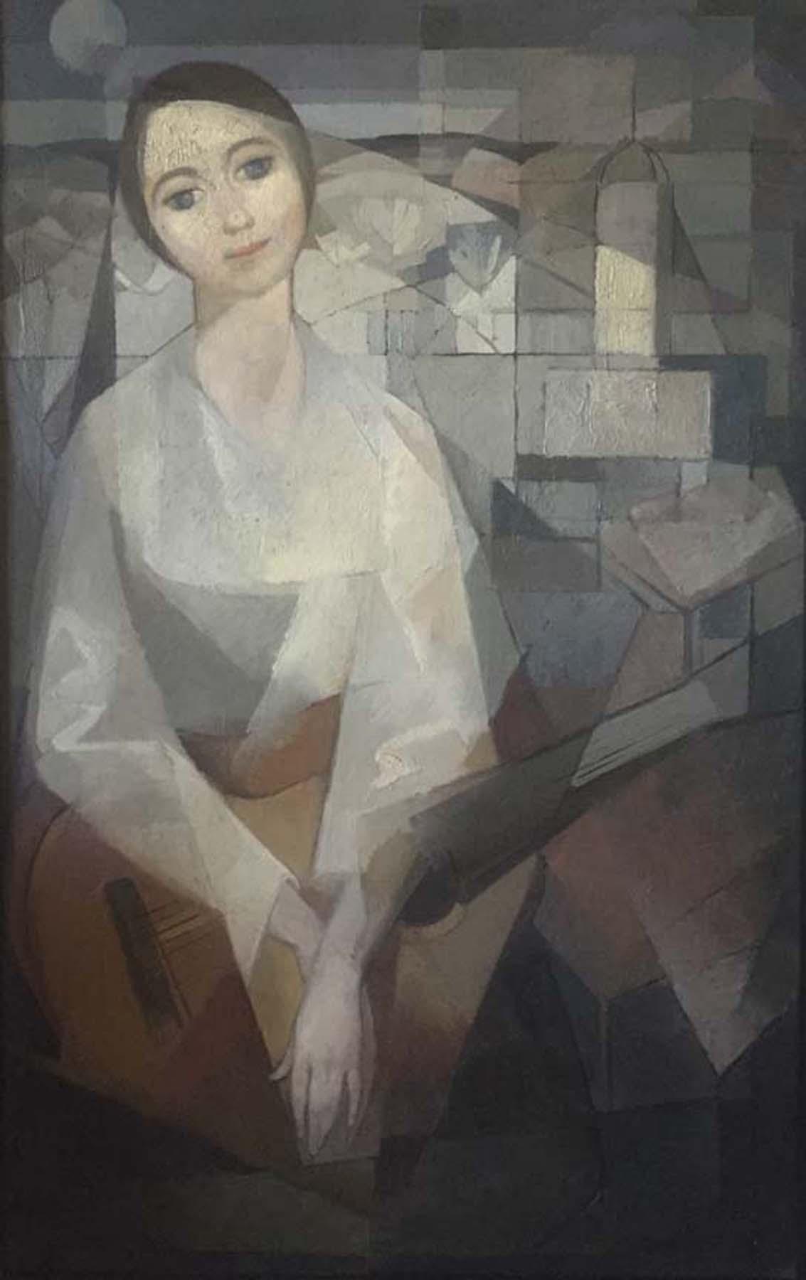 Carles Madirolas Cubist Art Deco Large Oil On Canvas
