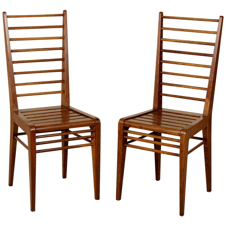 Italian Design Side Chairs Style Gio Ponti Fifties