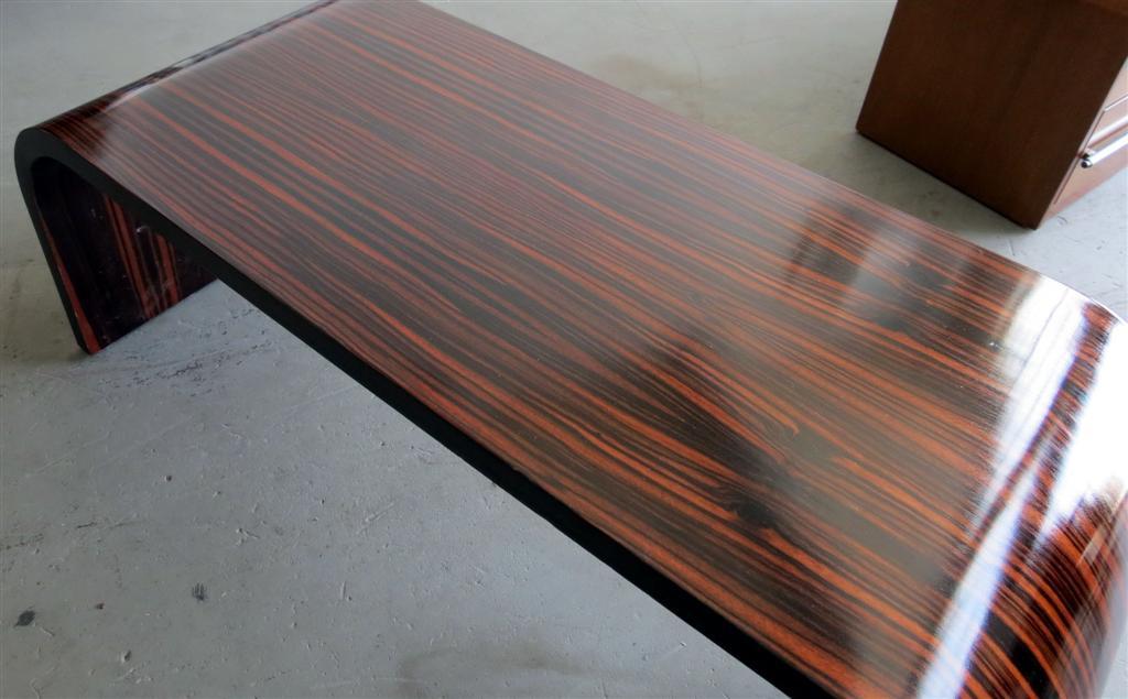 American Art Deco Macassar Ebony Coffee Table