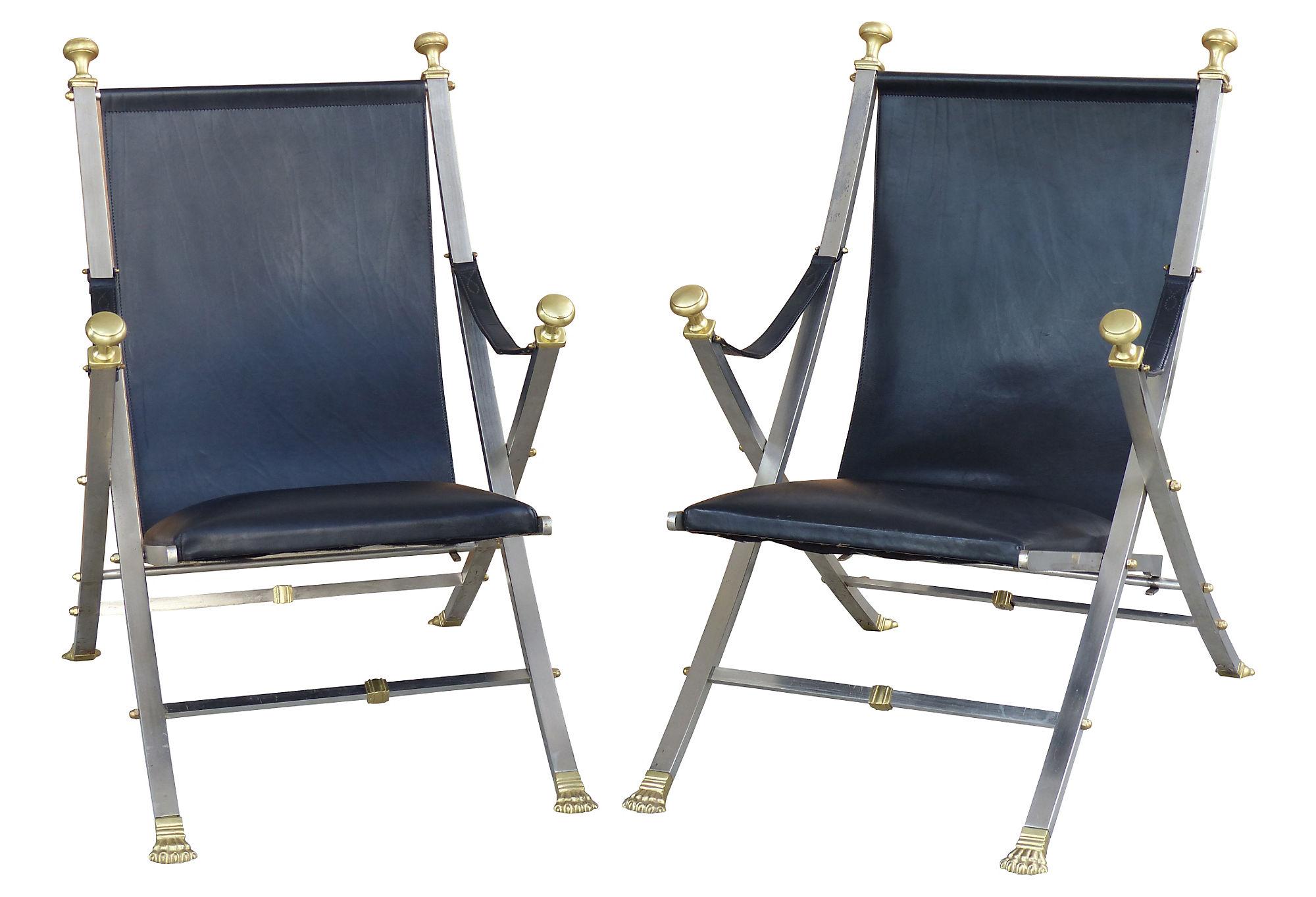 Maison Jansen Campaign Chairs