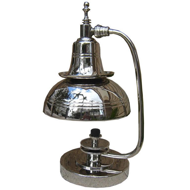 Art Deco Lamp Shades: Markel American Art Deco Double Shade Table Lamp