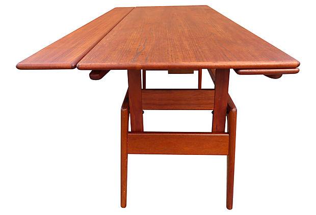 Metamorphic Danish Modern Coffee Table Converts To Dining Modernism
