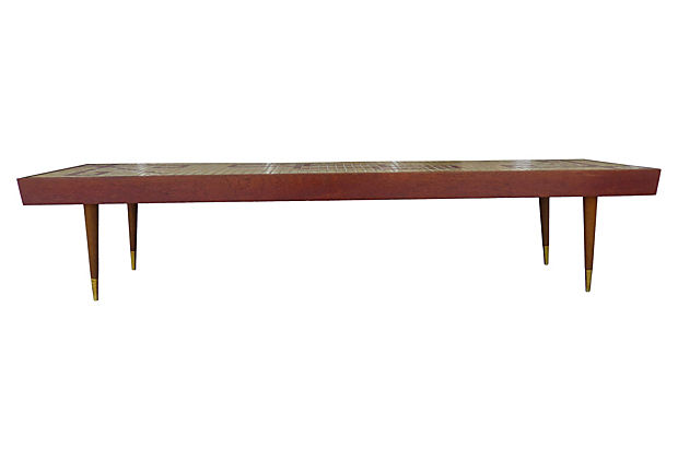 Mid century modern tile top coffee table modernism for Table 6 in as 3725