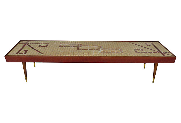 C.1960 Mid Century Modern Tile Top Coffee Table