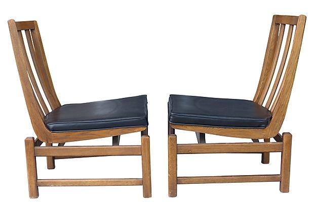 Mid Century Modern Slipper Chairs By Lenoir Chair Co.