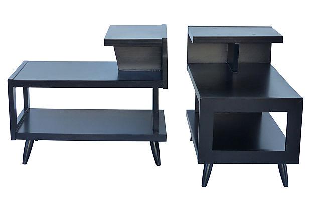 Pair Of S MidCentury Modern Side Tables Modernism - Midcentury modern side table