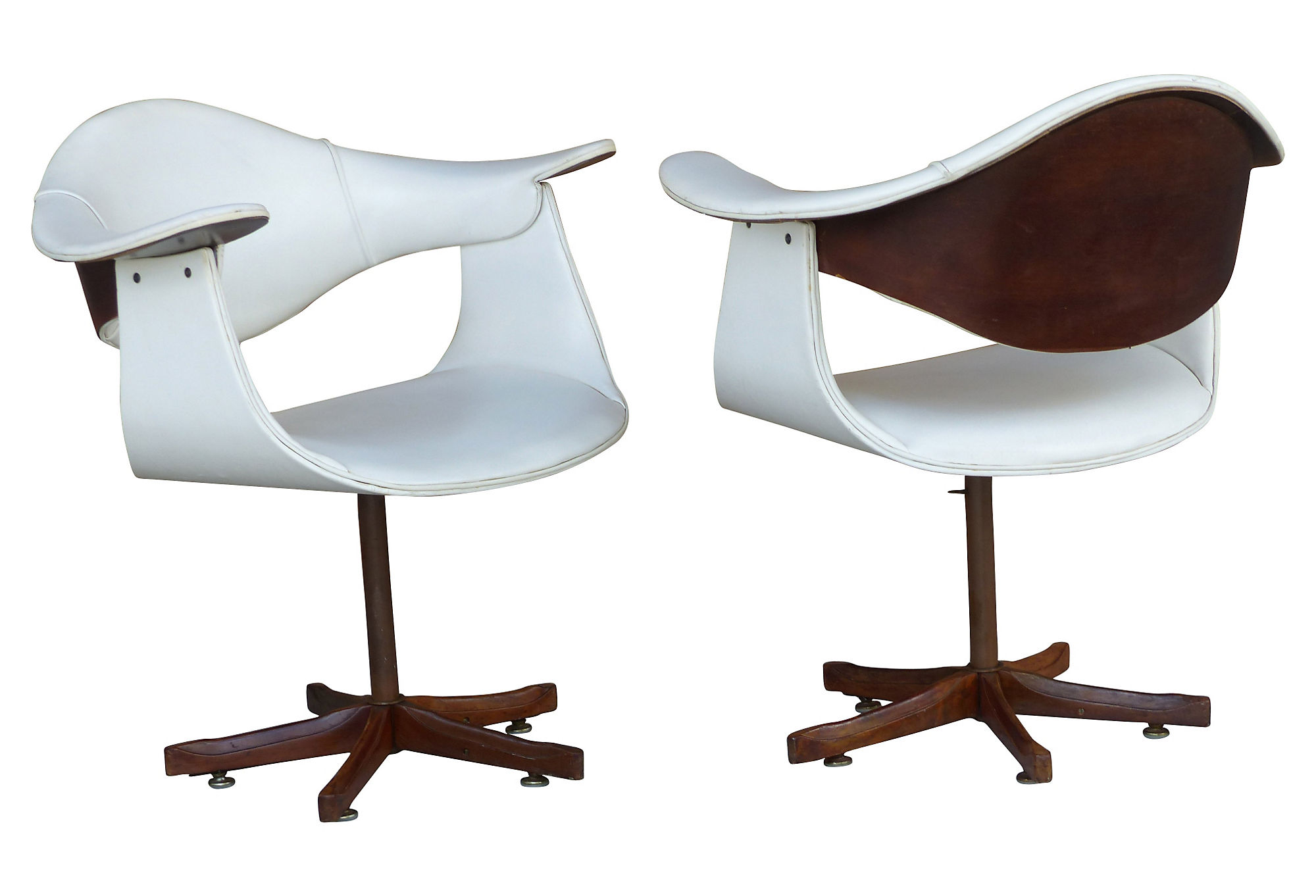 mid century swivel chair. Mid-century Swivel Bentwood Chairs After Plycraft Mid Century Chair