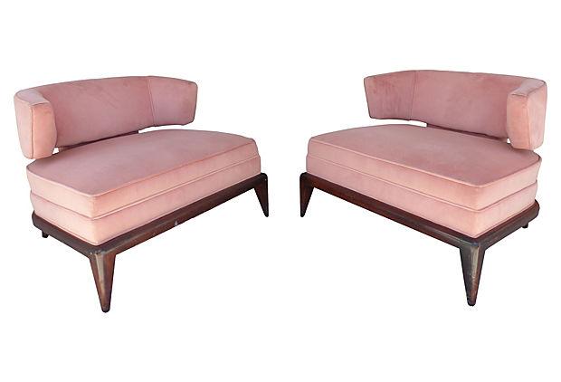 Genial 1960u0027s Mid Century Modern Club Chairs
