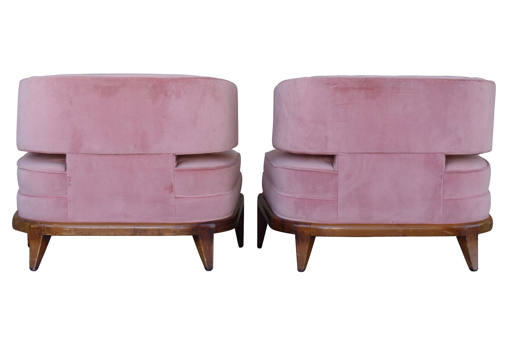 Billy Haines Style Mid century Club Chairs