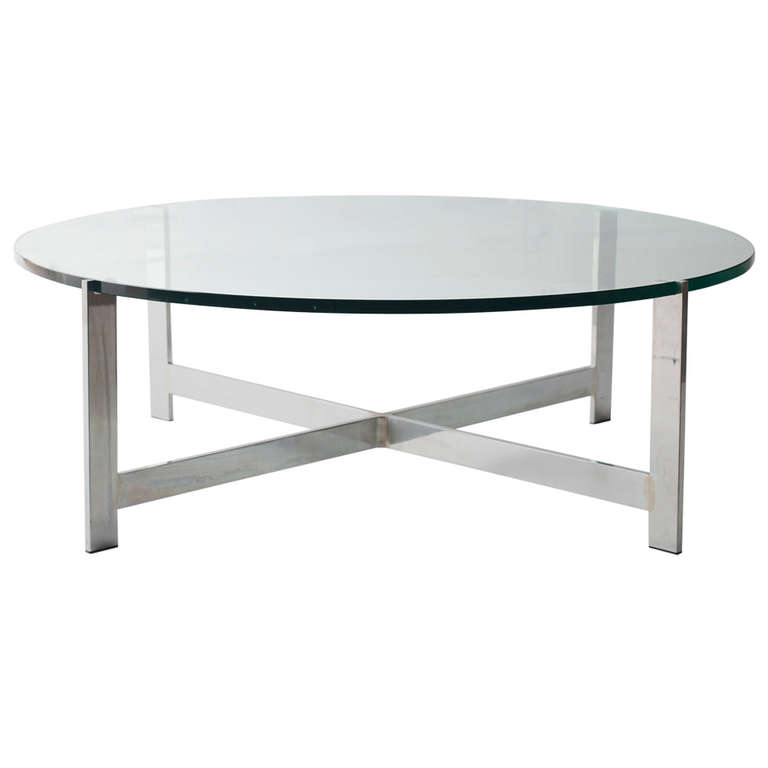 Milo Baughman Chrome Coffee Table: Milo Baughman Coffee Table For Thayer Coggin