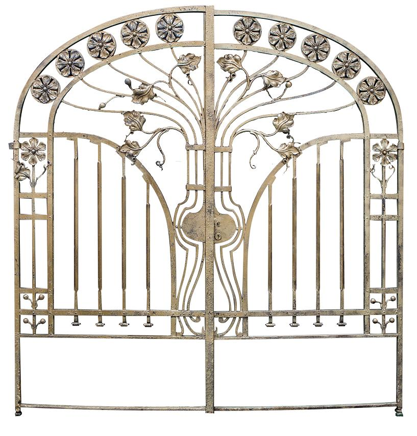 Art Deco Nouveau: An Impressive Art Nouveau Wrought Iron Gate