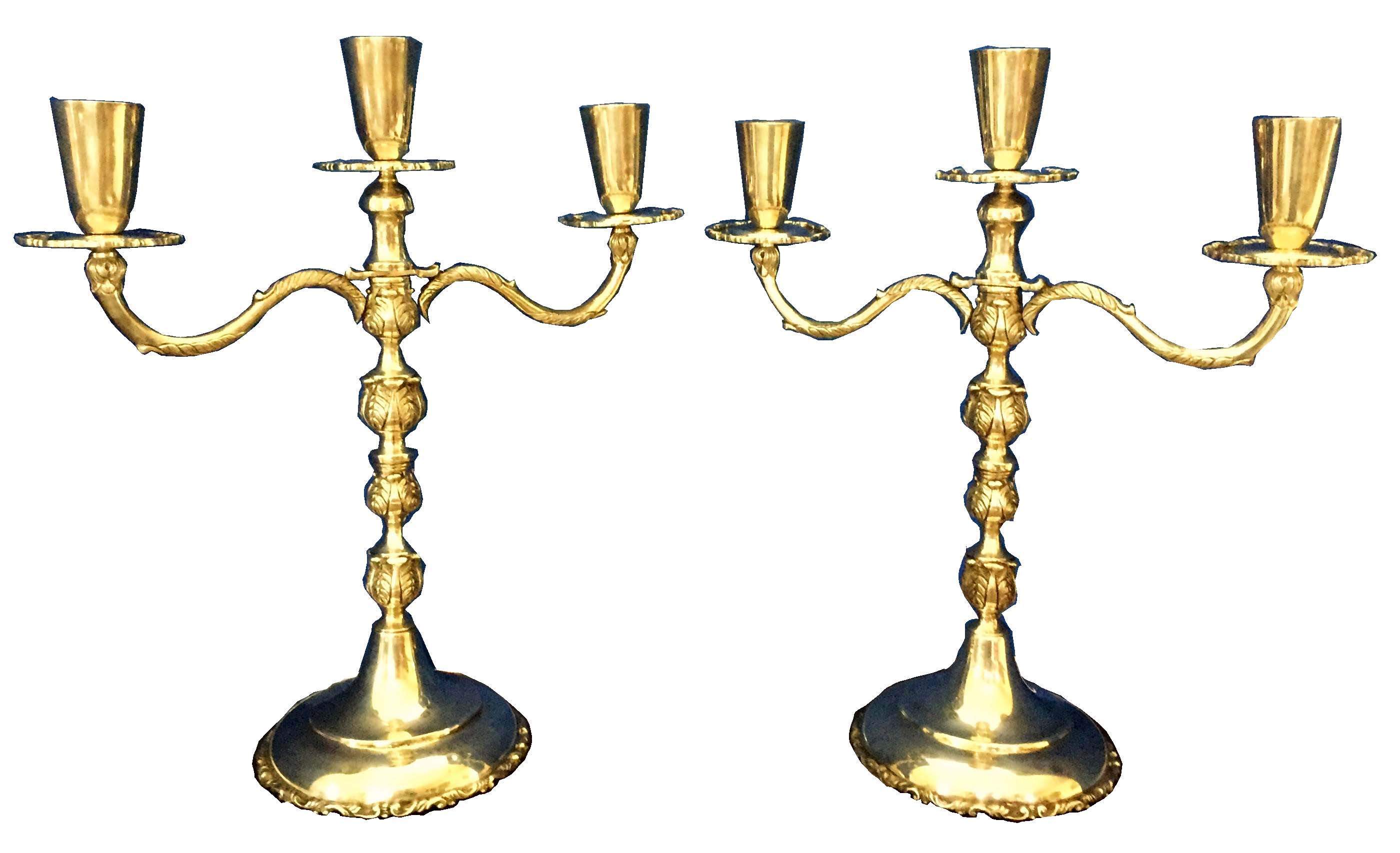 Pair Modernistic Mexican Sterling Candelabra Modernism