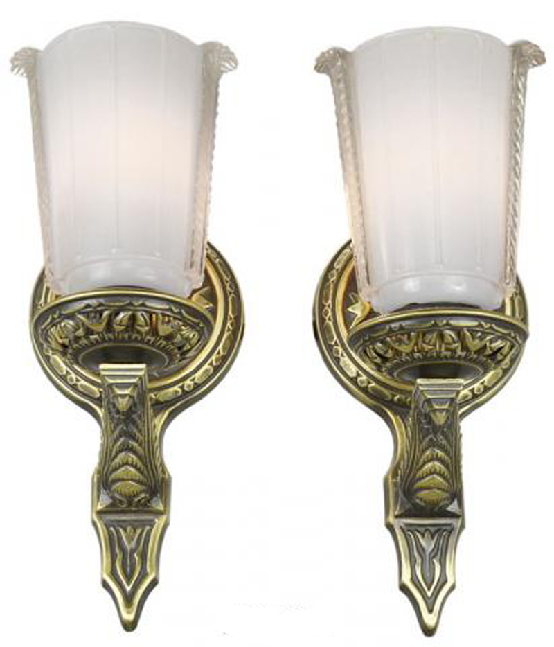 Lovely Pair Of Circa 1920 Wall Sconces Modernism