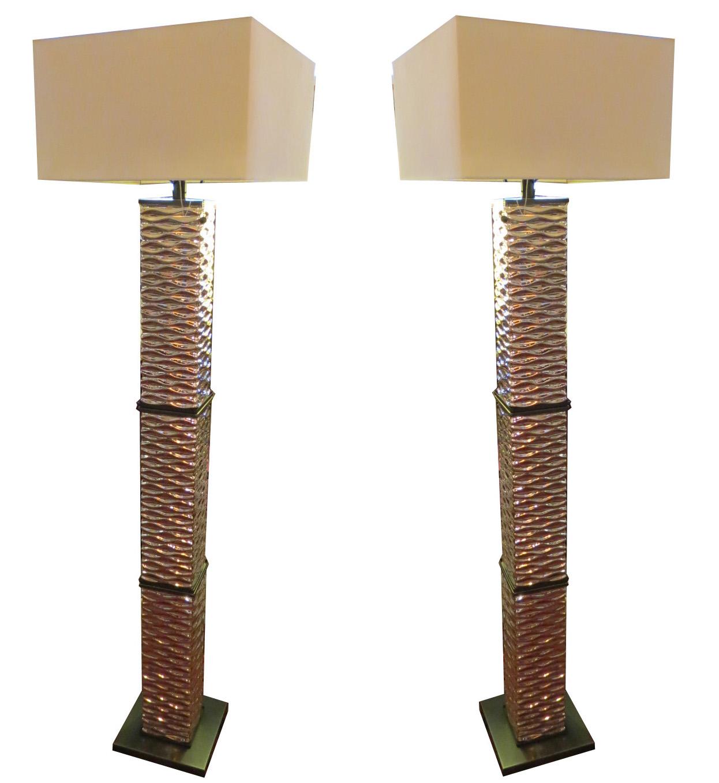 Pair george kovacs geometric modern floor lamps modernism pair george kovacs geometric modern floor lamps aloadofball Choice Image