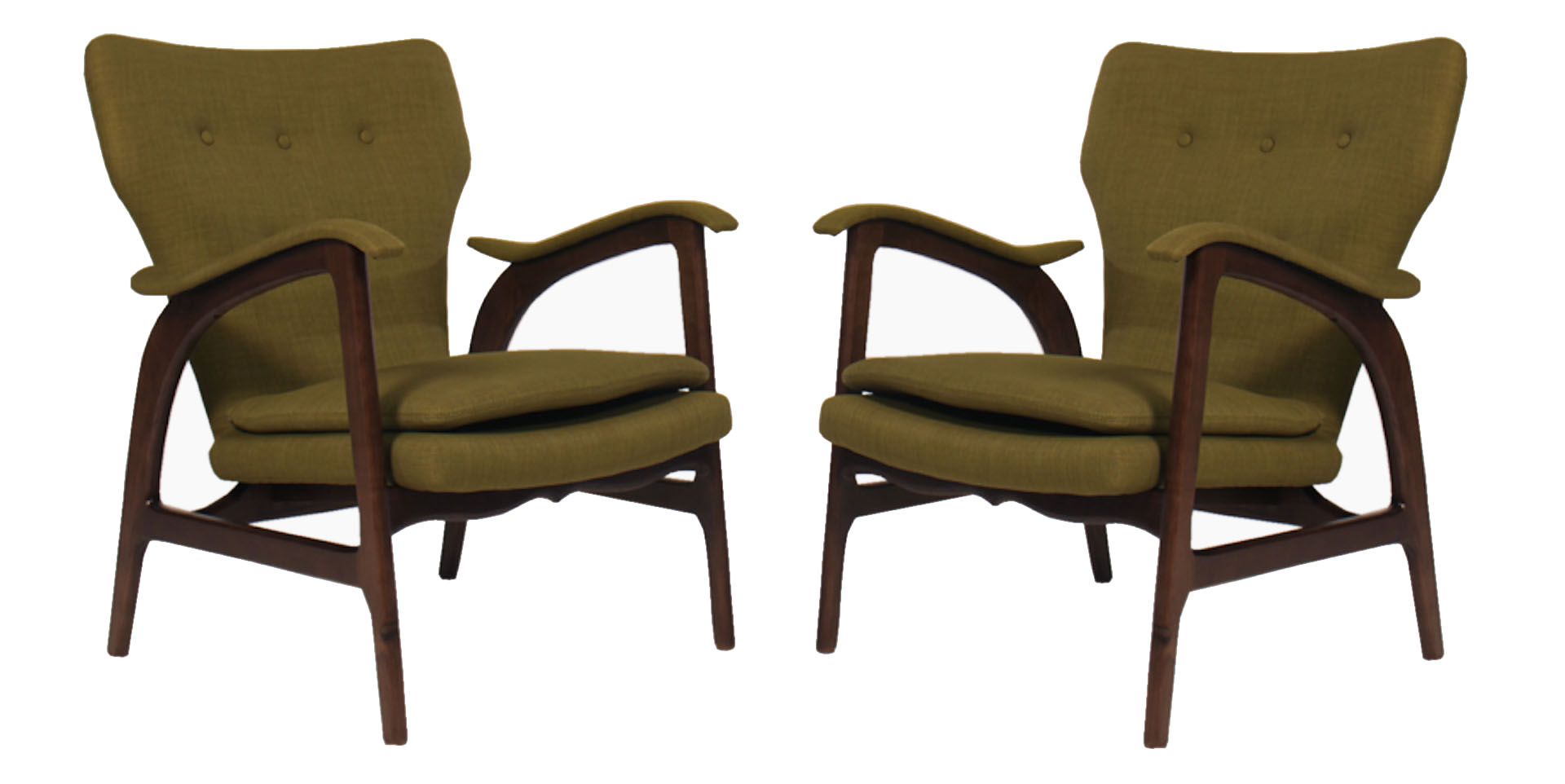 A Pair Of Mid Century Chairs In The Manner Of Vladimir Kagan