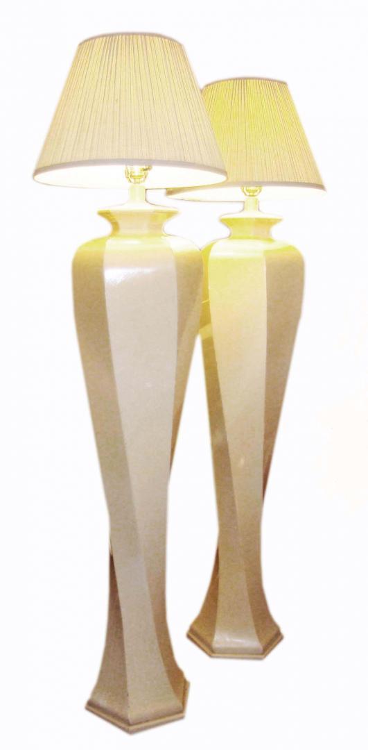 Contempory Pop Modern Pair Spiral Standing Floor Lamps - Contempory Pop Modern Pair Spiral Standing Floor Lamps Modernism