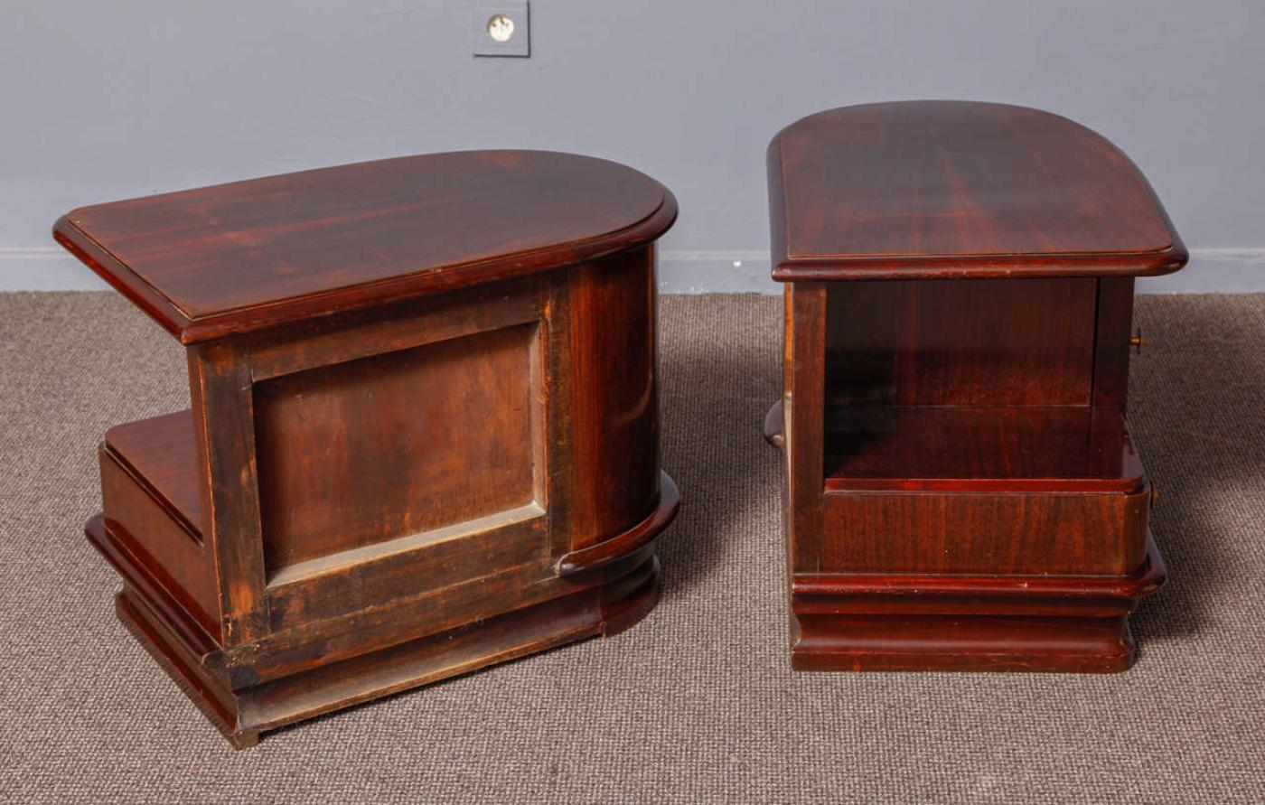 pair of art deco night stands modernism. Black Bedroom Furniture Sets. Home Design Ideas