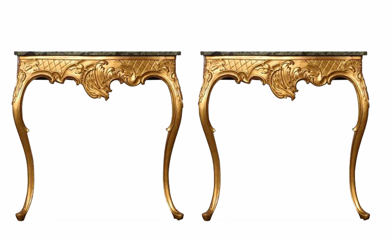 Pair Of Late 18th Century Console Tables Eclectic Design