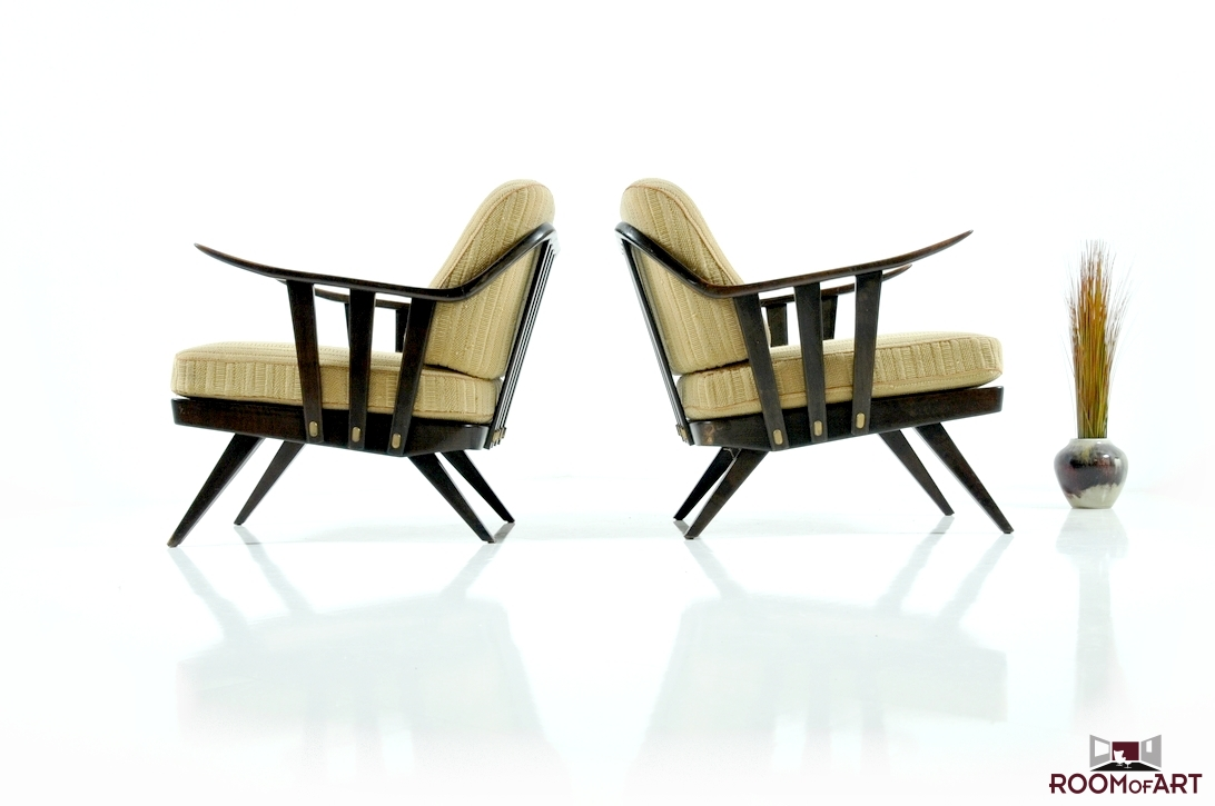 Pair of early 1950s Lounge Chairs. Pair of early 1950s Lounge Chairs   Modernism