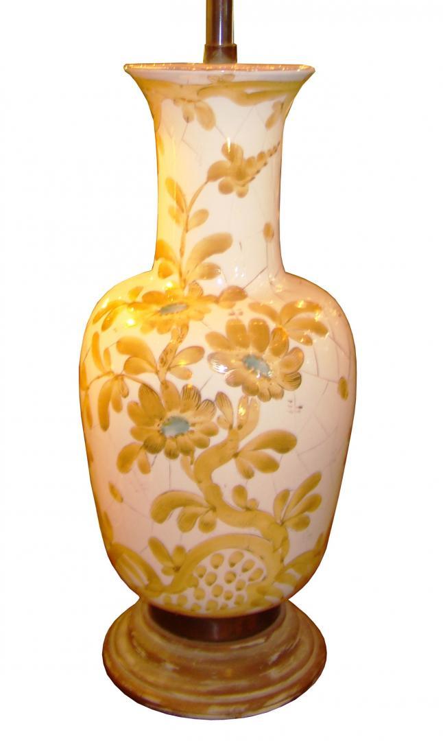 Large Porcelain Modern Oriental Floral Table Lamp Base