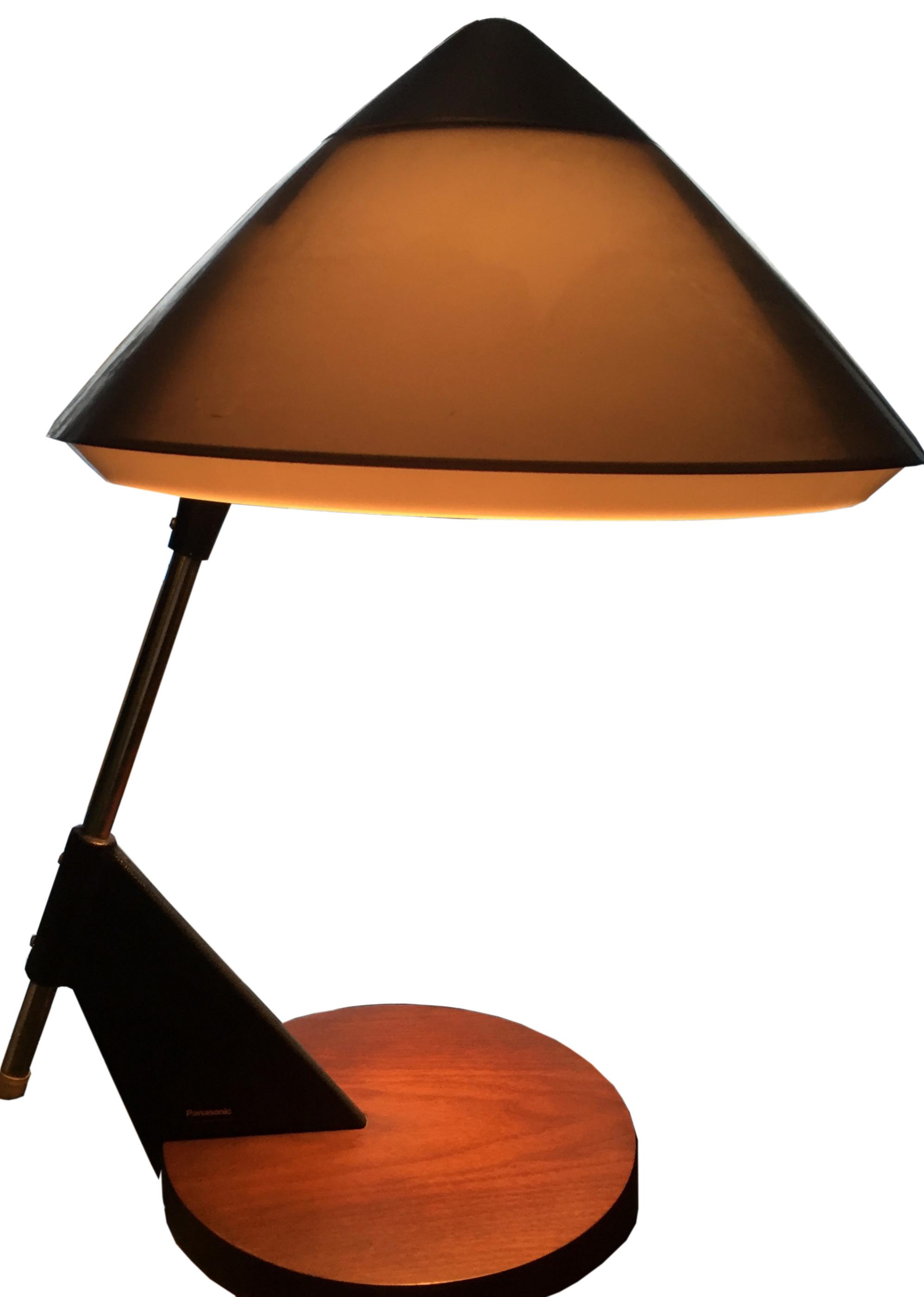 Rare Circa 1969 Panasonic Incandescent Table Desk Lamp