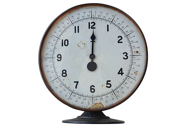 art deco clock from one hand clock co modernism. Black Bedroom Furniture Sets. Home Design Ideas