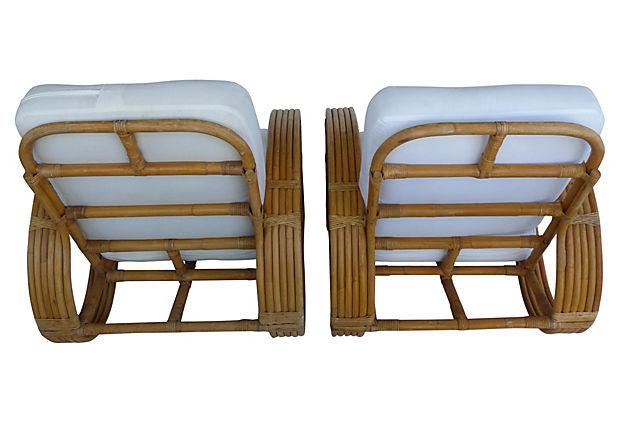 Mid Century Modern Rattan Pretzel Chairs By Tochiko An Modernism