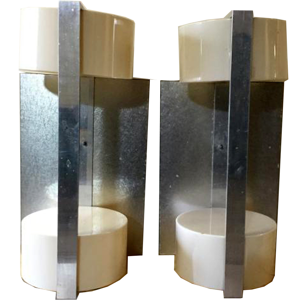 Large Modern Wall Sconces : Rare Pair Of Large Raymor Modern Wall Sconces Modernism