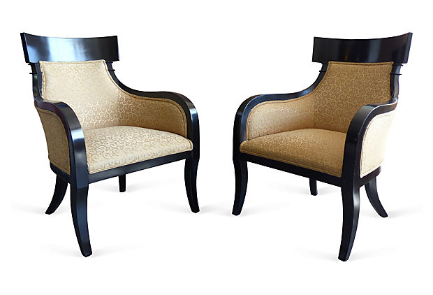 Regency Style Club Chairs