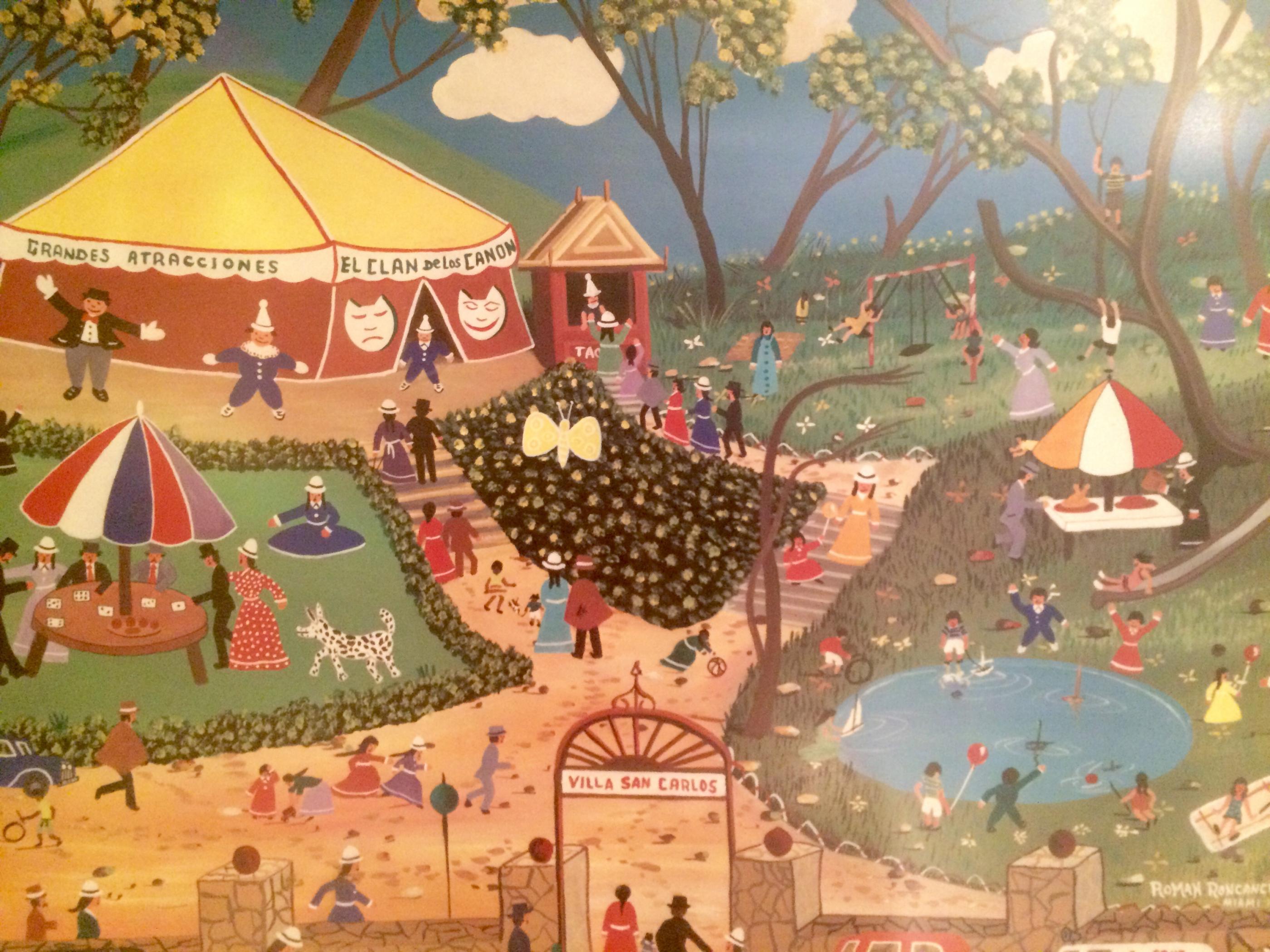 El Circo By Colombian Artist Roman Roncancio Modernism