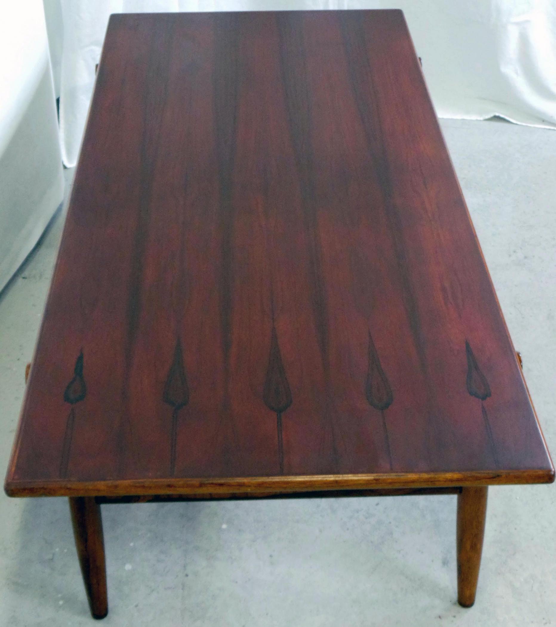 Danish Modern Rosewood Coffee Table 1960u0027s