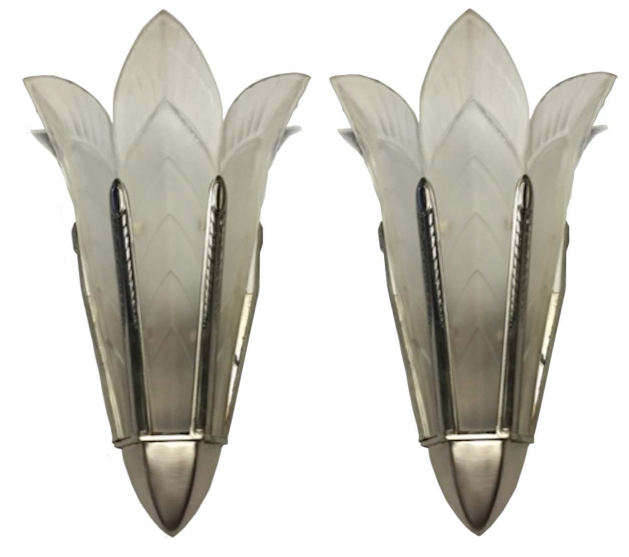 A Pair Of Signed Sabino French Art Deco Wall Sconces  sc 1 st  Modernism & A Pair Of Signed Sabino French Art Deco Wall Sconces | Modernism