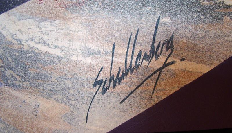 Foto Schallenberg large abstract painting vortex by roy schallenberg modernism
